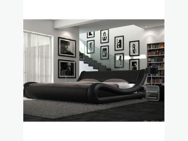 italian leather bed (kingsize)