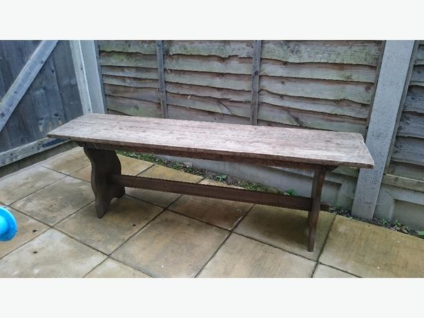 solid oak refectory bench