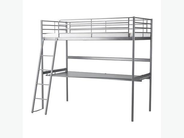 Loft bed frame with desk top ( bunk bed )