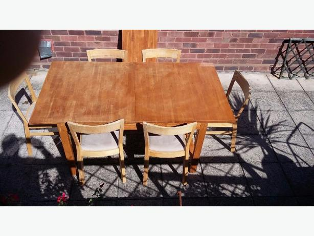 ikea extending table + 6 chairs