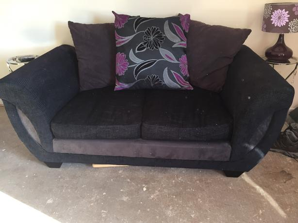 x2 two seater sofas