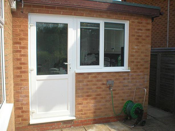 WHITE UPVC BACK DOOR MADE TO MEASURE FROM £259 DELIVERED