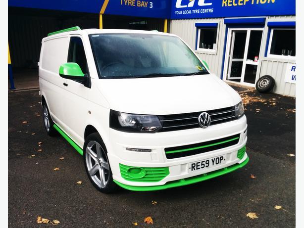 For Sale: Volkswagen Transporter T5 Van White and Green 2009 1.9 SWB