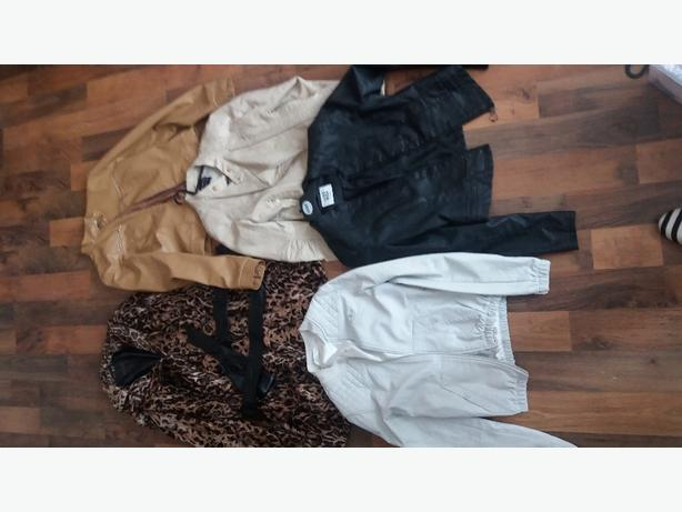 large bundle of ladies coats heels and clothes