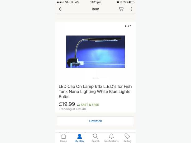 fish tank clip on light