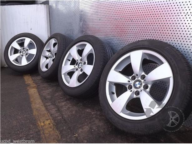 BMW 525 E60 17 inch SET OF 4x WHEELS WITH TYRES 225/50 R17 Ref. T17