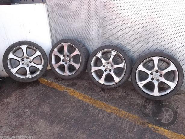 "Honda Civic 2006-2011 18"" Set of 4x ALLOY WHEELS and TYRES 225/40 R18 Refe. D20"