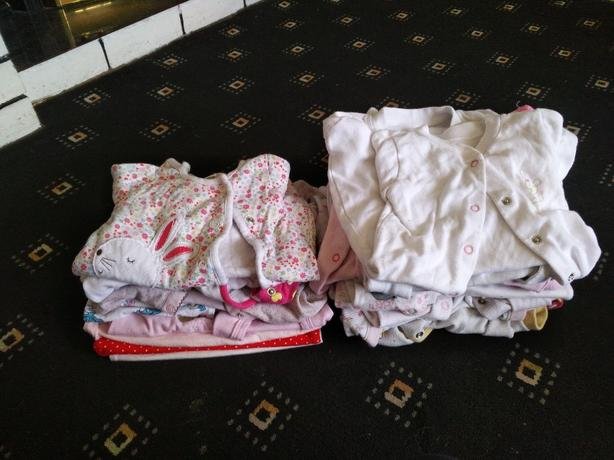 Large bundle of first size and 0-3 girls clothes