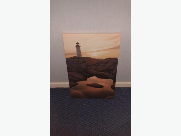 Sea side style Lighthouse Canvas