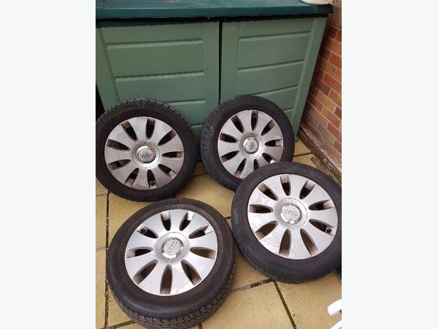 set of 4 Audi wheels