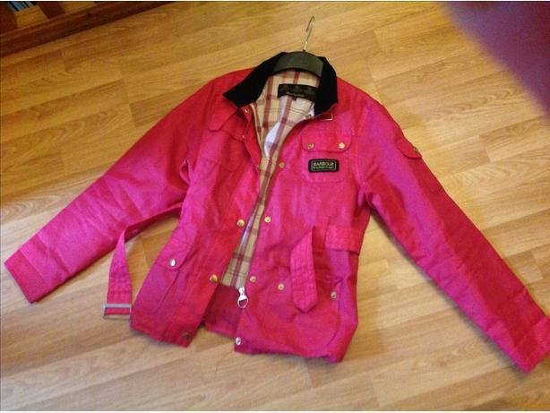 Girls pink barbour jacket