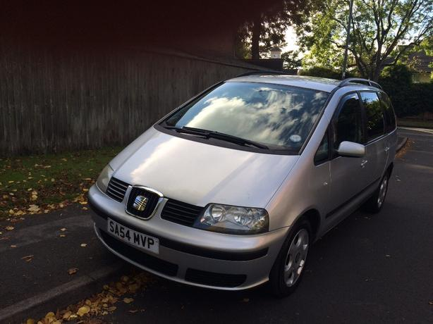 seat alhambra turbo diesel 6 speed box 7 seater 2004