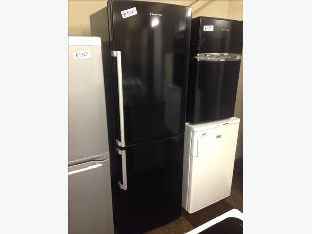 BLACK RUSSELL HOBBS FRIDGE FREEZER