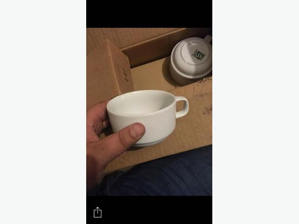 12 box of white mugs