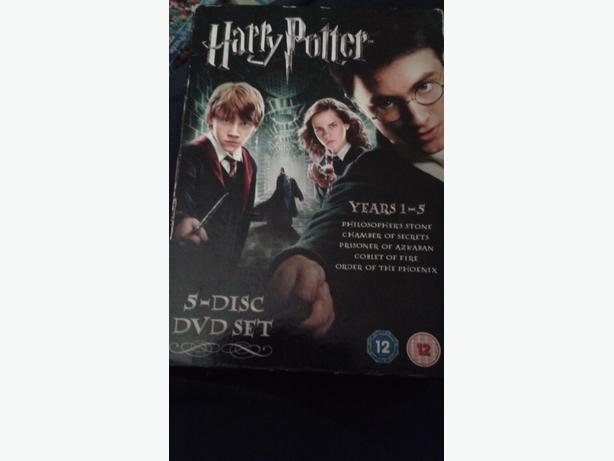 harry potter 5 disc dvd set