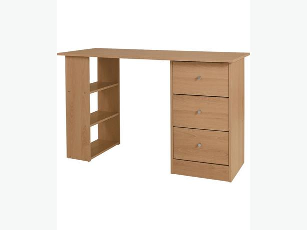 New 3 drawer 120cm office desk-oak effect