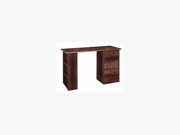 New 3 drawer 120cm office desk-wenge  effect