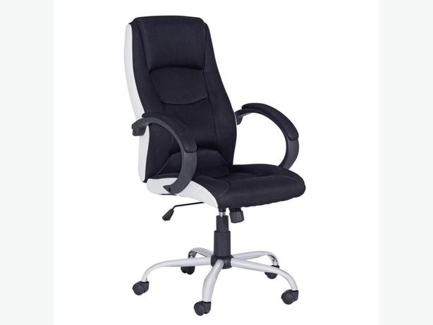 High-Back Gas Lift Chair – Black and White.