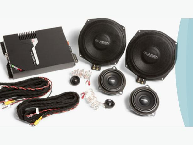 mosconi gladen bmw 3 series high end audio component speaker and amp kit + rears