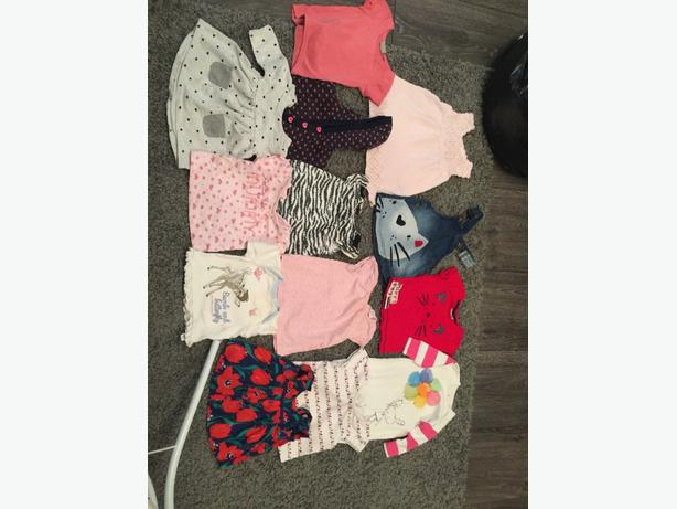 mixed baby girls clothes 3-6 months