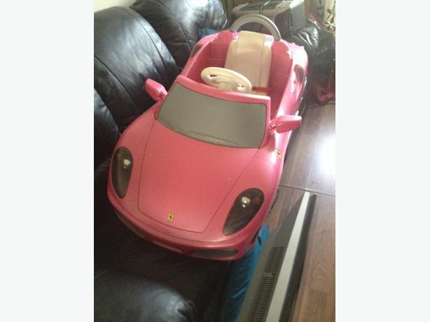 ferrari car pink