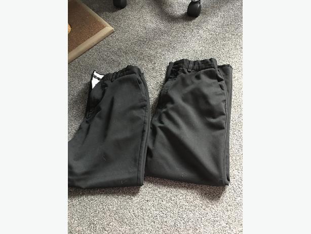 Boys black school trousers 13 years