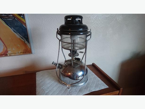 VINTAGE CHROME STORM HURRICANE TILLEY LAMP STORM LANTERN DECOR DISPLAY VGC