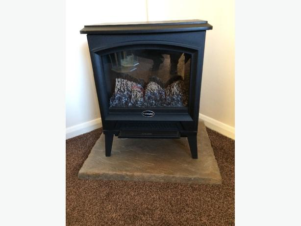 electric fire and stand