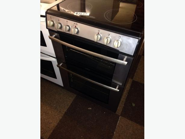 BELLING 60CM DOUBLE OVEN ELECTRIC COOKER01