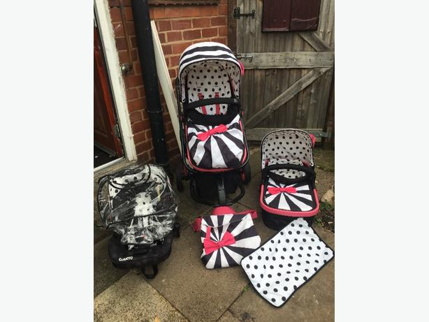 full cosatto giggle go lightly 2 travel system