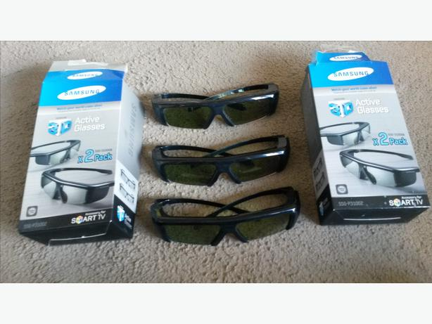 3 sets of samsung 3d glasses