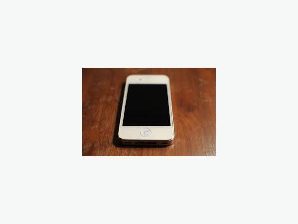 iphone 4 white 8gb with box and charger mint.