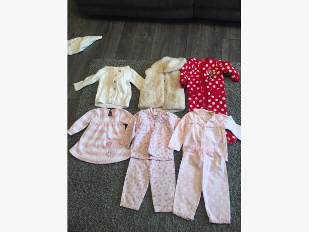 mixed baby girls clothes 9-12 months
