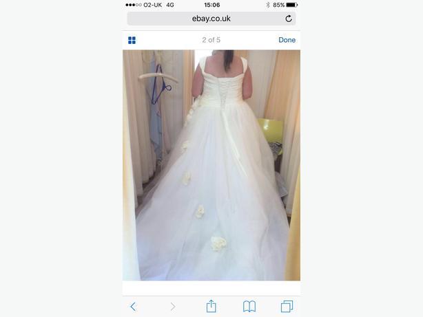 Sonsie Veroma Ivory wedding dress and 6 hoop skirt