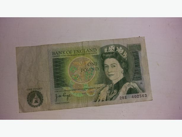 old one pound note give me an offer