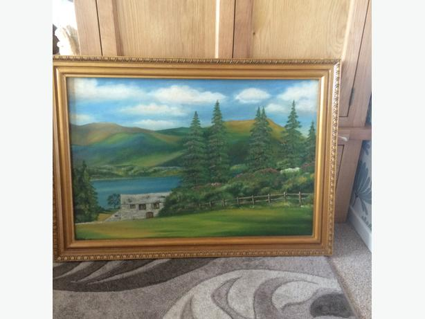 Oil painting 52 years old signed