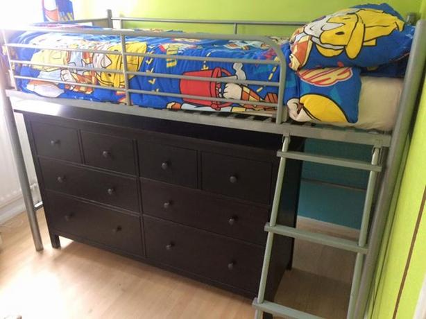Cabin bunk Bed With Ikea Hemnes Chest Of Draws COULD DELIVER FOR FEE