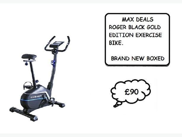 REDUCED. REDUCED. REDUCED Roger Black Gold Magnetic Exercise Bike BNB