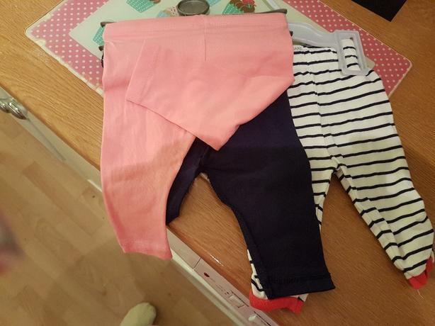 0 - 3 months 3 pairs of leggings