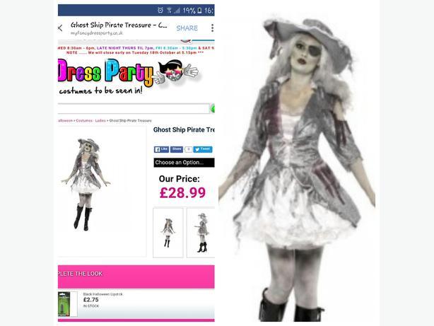 pirate fancydress costume