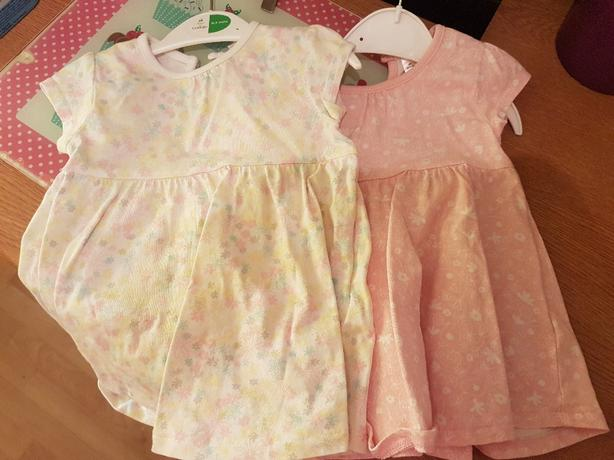 0 - 3 months set of 2 baby girl dresses