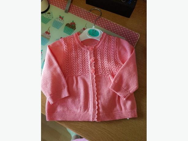 0 - 3 months pink cardigan