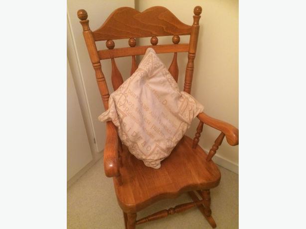 soild oak rocking chair
