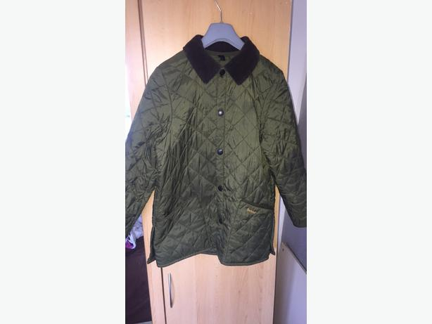 boys khaki green barbour coat
