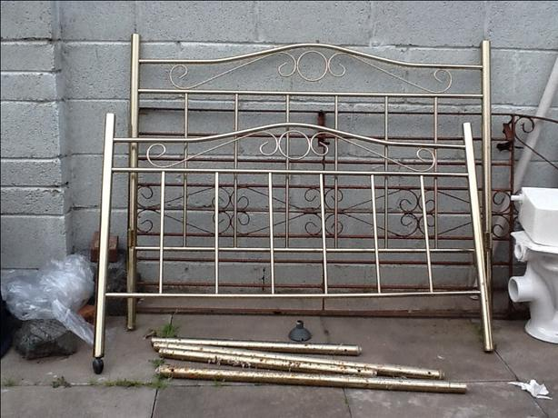 Bed frame top and bottom