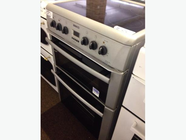 BEKO ELECTRIC COOKER 60CM FAN ASSISTED DOUBLE OVEN