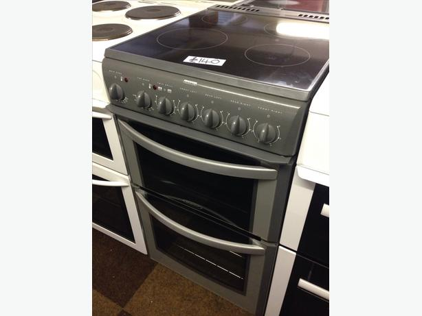 HOTPOINT 50CM DOUBLE OVEN ELECTRIC COOKER