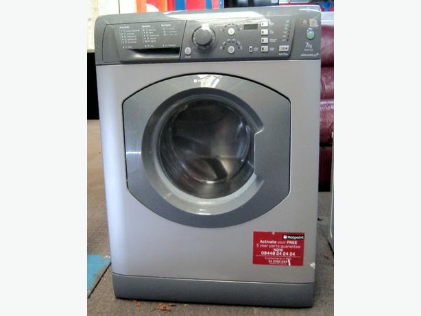 Hotpoint Silver 7kg Washing Machine, 1600 Spin, 6 Month Warranty