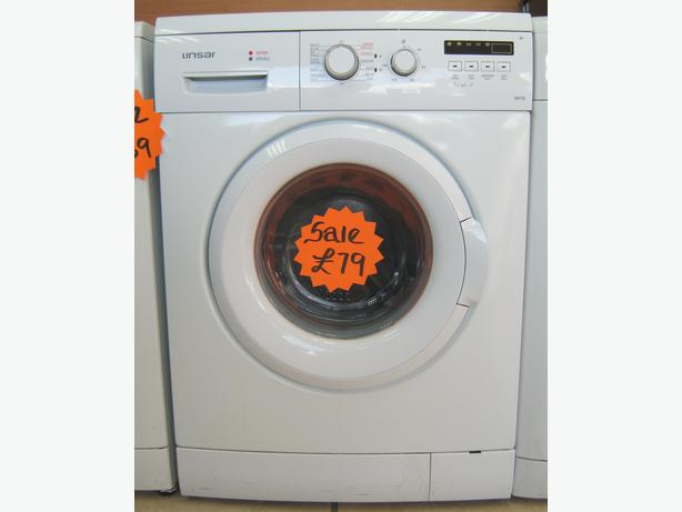 Linsar WM700 1400 Spin Washing Machine, 7kg Capacity, VGC, 6 Month Warranty
