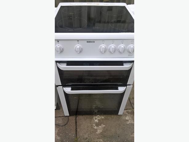 Beko cooker double oven,ceramic hob, 60cmW